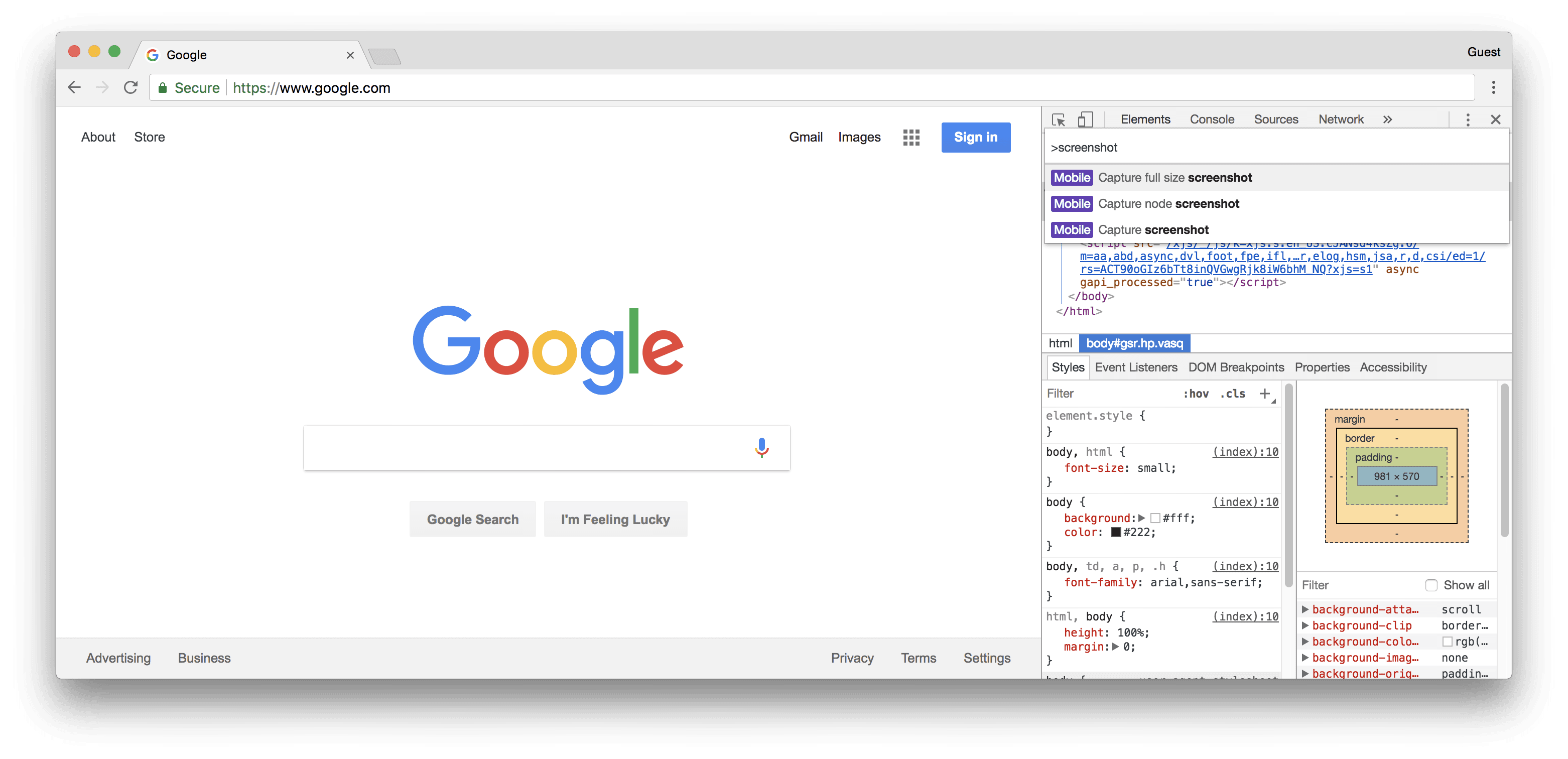 How to Take a Full Page Screenshot with Google Chrome