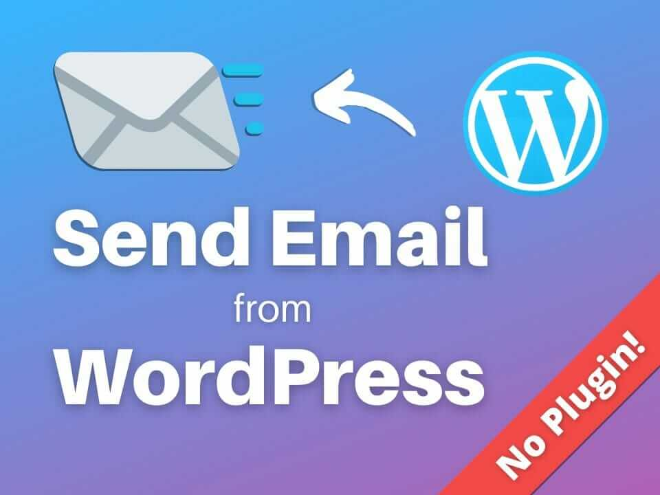 Send SMTP email from WordPress without a plugin