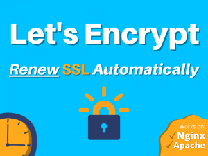 Renew ssl certificate from Let's Encrypt automatically