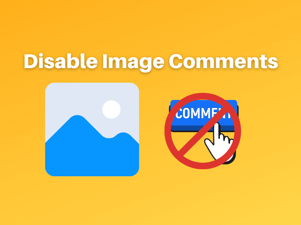 How to disable image comments in WordPress